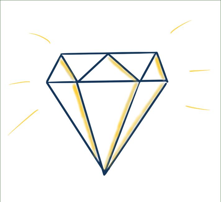 Flipchart Diamond Drawing